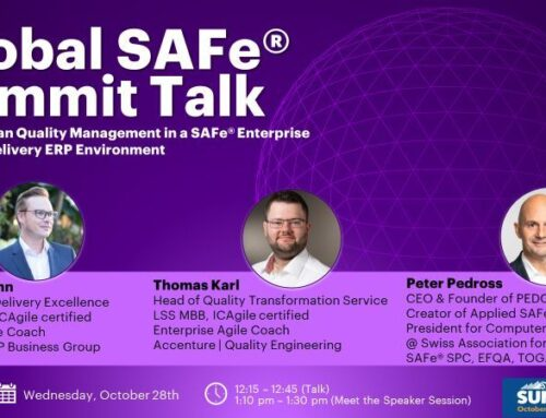 Applied Lean Quality Management in a SAFe® Enterprise Solution Delivery ERP Environment – Global SAFe Summit Talk 2020